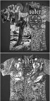 Vader T-shirt 'Mezzotint' by xaay