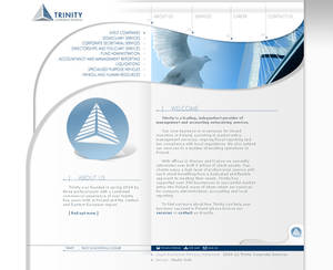 Trinity - website layout