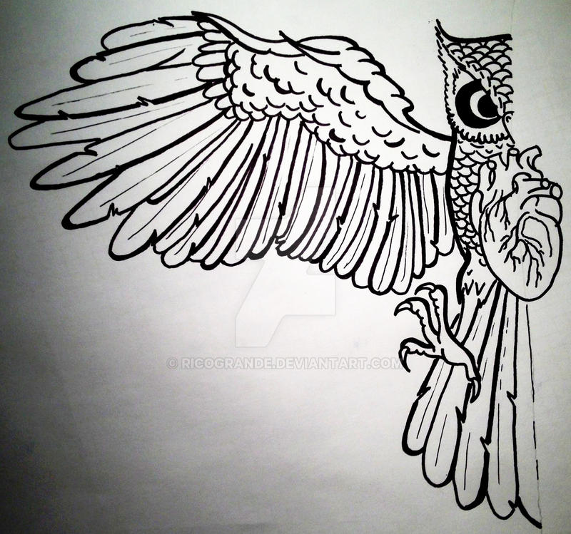 Owl Body Tattoo OUTLINES By RicoGrande On DeviantArt