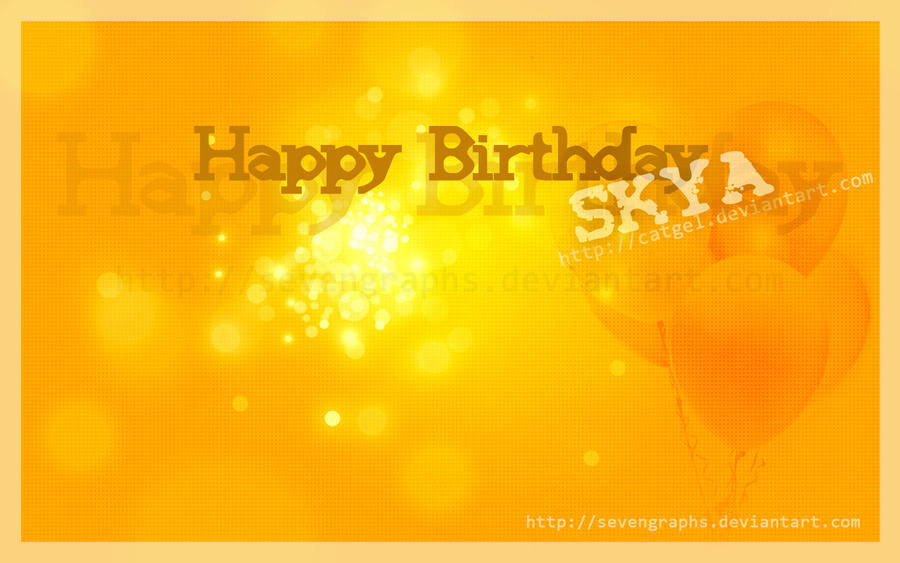 Happy Birthday SKYA by sevengraphs
