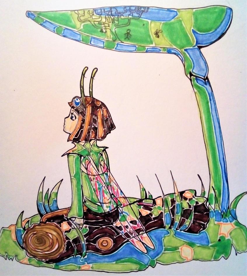 Small Grasshopper by Naefa