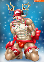 X'Mas Stantler Suit : Red  - Patreon by St-Alpha