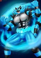 Blue Fire Incineroar Suit Guy - Patreon by St-Alpha