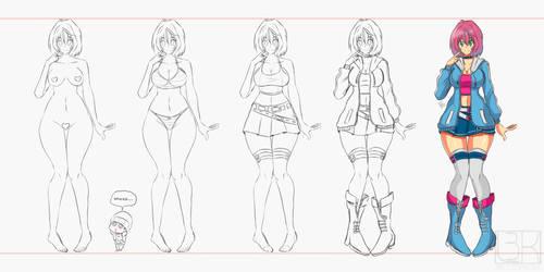 Melody's updated design by Locke3K