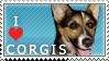 Corgi Stamp 2 by dappledoxie