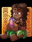 Maui and little Tamatoa