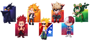 Hero Academia chibi pack