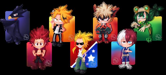 Hero Academia chibi pack
