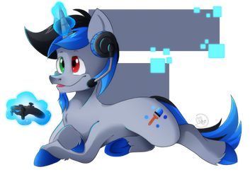 Commission: Gamer Blue Paint by BlazeMizu