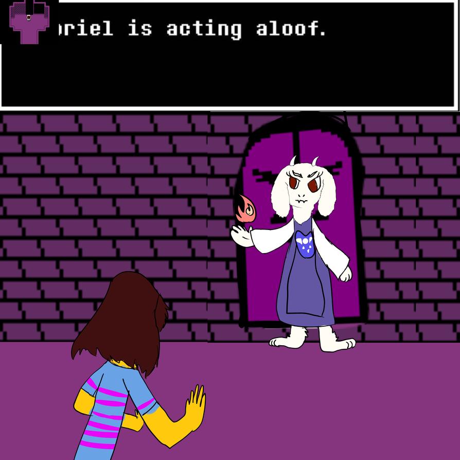 Acting aloof