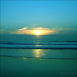 winter sunset -