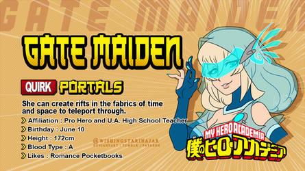 [ BNHA ] Character Card - Gate Maiden by WishingStarInAJar