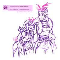 Doodle: Arcanic Siblings by WishingStarInAJar