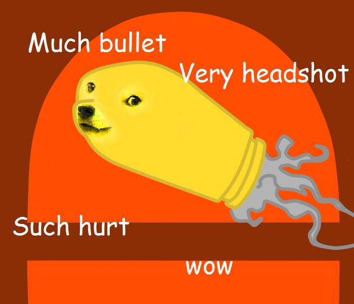 Doge this bullet! by Crystalitar