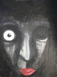 Female face by BixbyBrainStorm