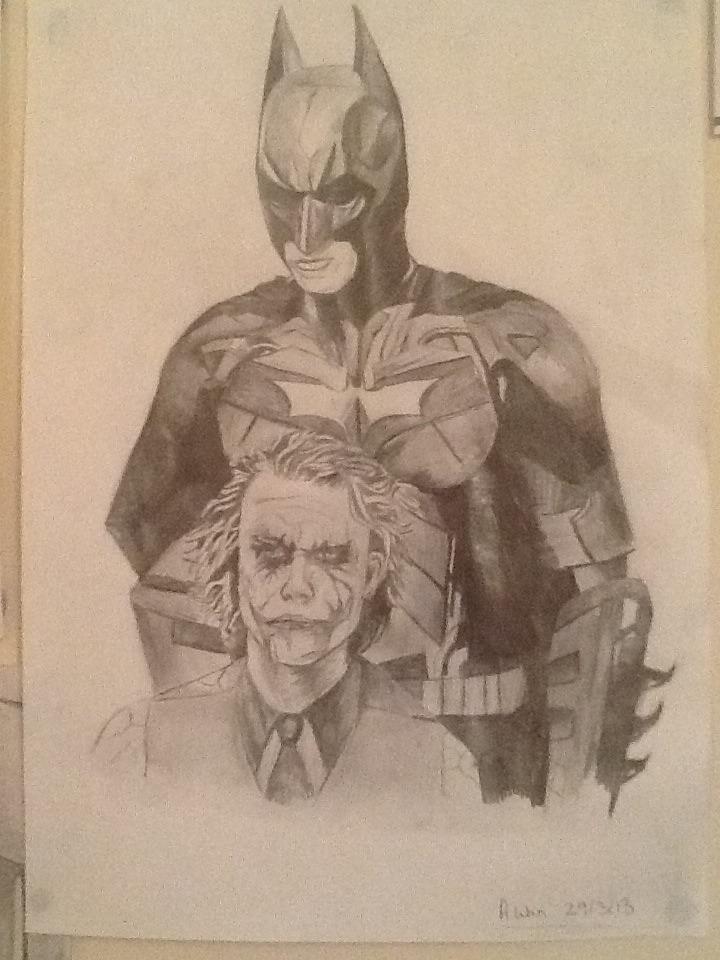 Batman And Joker - Pencil Drawing By Ashleywain On DeviantArt