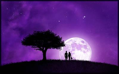 Purple Silhouette by Danmasta