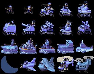 Blue Moon Unit Sprites by Nobnimis