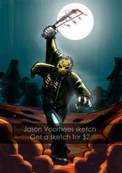 [COMMISSIONS OPEN!] Jason Voorhees $2 sketch