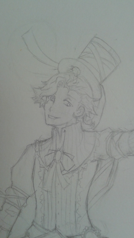 WIP Sketch Leweiss close-up by Gabbycon