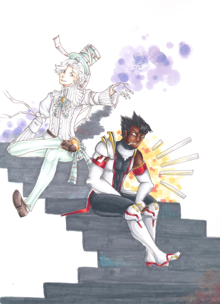 Leweiss and D.R (Re-scan) by Gabbycon