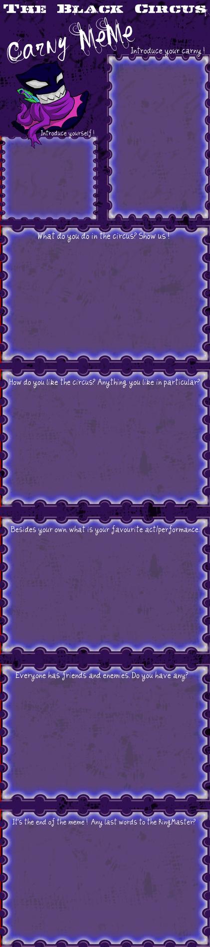 Introduce Your Carny! (blank) by 110animegirl