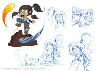 Korra doodles by nef