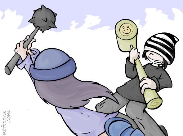 Epic battle by nef
