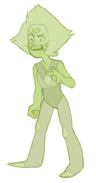 first drawing of 2016 is peridot. of course it's peridot.
