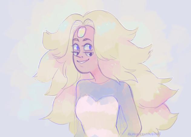 I drew a Rainbow Quartz I kind of liked so yeah uwu