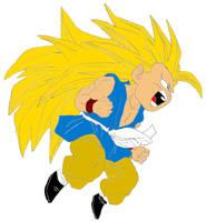 SSJ3 Kid Goku by Disturbed-Minded