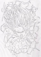 SSJ3 Goku by Disturbed-Minded