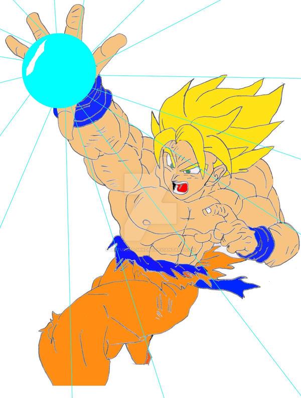 Goku Energy Blast by Disturbed-Minded