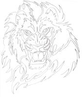 Tribal Lion by Disturbed-Minded