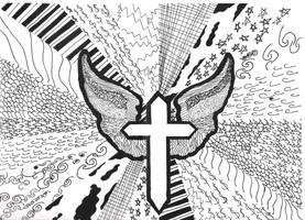 Pen and Ink Cross by Disturbed-Minded