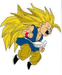 SSJ3 Kid Goku Redone by Disturbed-Minded