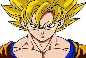 SSJ2 Goku by Disturbed-Minded