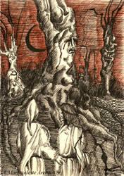 Dante e Pier delle Vigne Divina Commedia