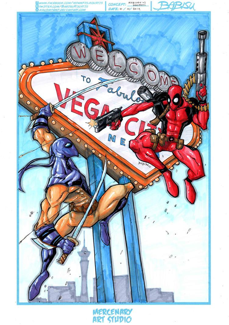 Aceblade V Deadpool by Babisu Kourtis by Djtrunks2