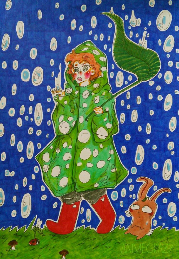 It's raining by AnimeGrazy