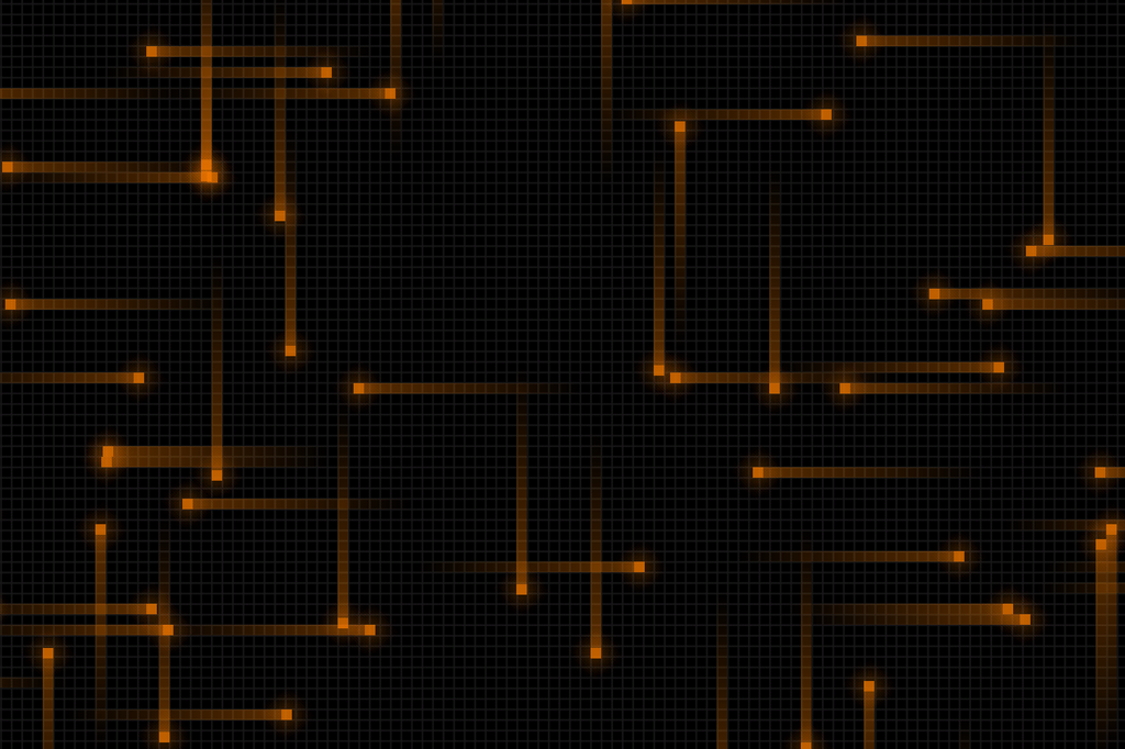 Orange Grid Wallpaper By TsavolitePrince