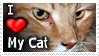 I Love My Cat - Stamp by CrimzonLogic