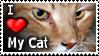 I Love My Cat - Stamp by CrimzonLogic