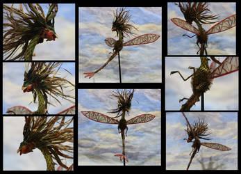 Flygon Plant Sculpture - Different Views by CrimzonLogic