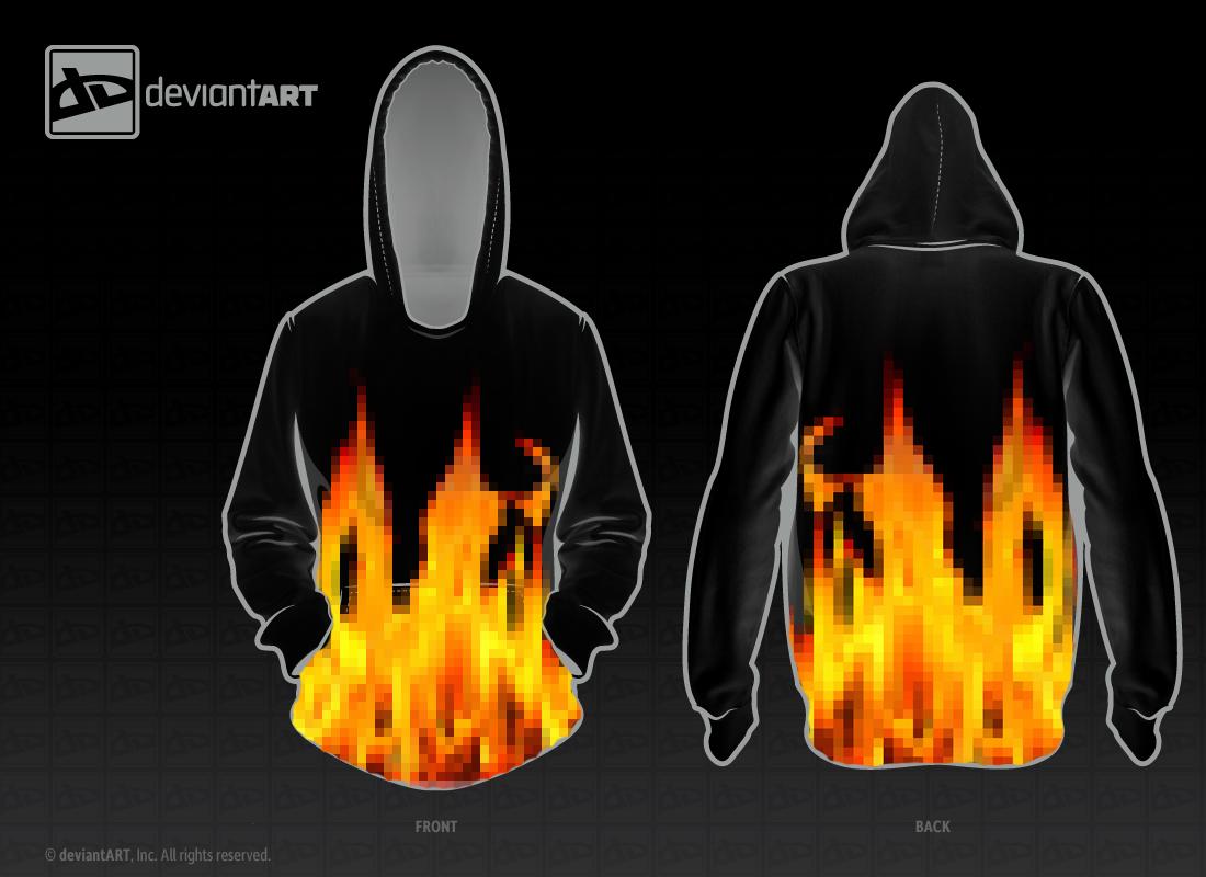 Pixel Fire Hoodie by Jlaaag