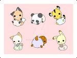 Baby Animals by Xeohelios