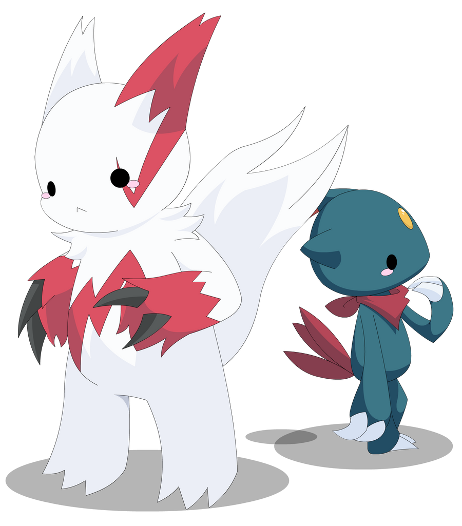 pkmn zangoose and sneasel by xeohelios on deviantart