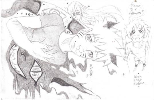 Lil' Naruto inside Big demon