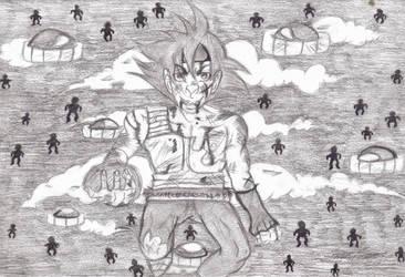 Goku's 'evil' daddy by animangaboy