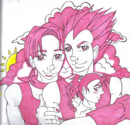 Pink Family by animangaboy
